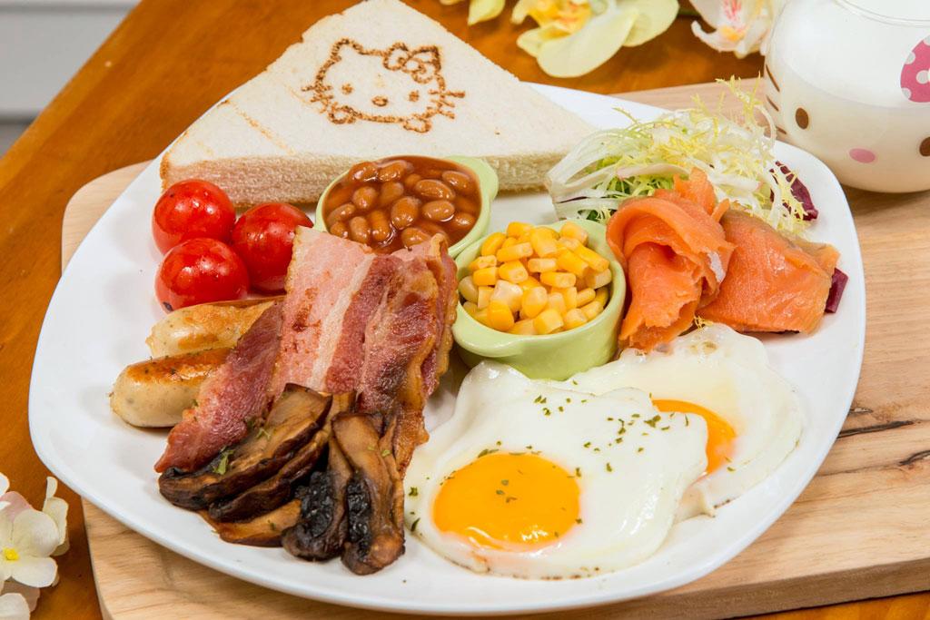เมนู All Day Breakfast จาก Hello Kitty Secret Garden ฮ่องกง