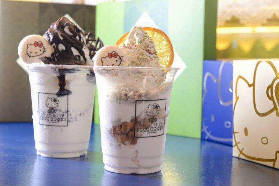Frozen Yogurt ร้าน Hello Kitty Obrigado มาเก๊า