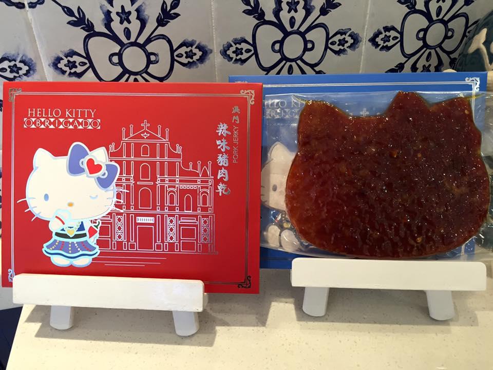 หมูแผ่นรูปคิตตี้ ร้าน Hello Kitty Obrigado มาเก๊า