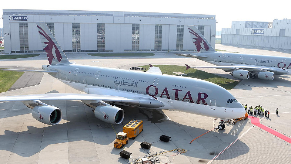 Airbus A380 ของ Qatar Airways