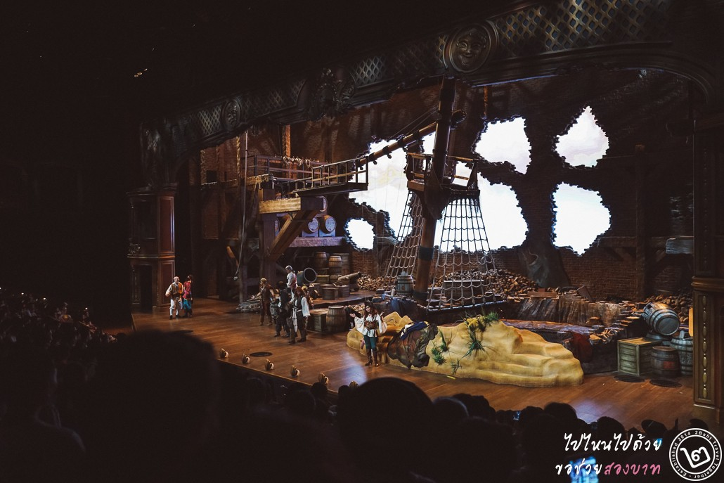Shanghai Disneyland, pirate of the caribbean, stunt show
