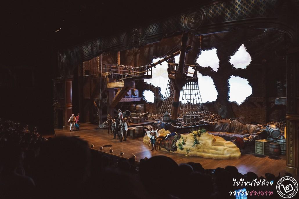 Shanghai Disneyland, pirate of the caribbean, stunt show