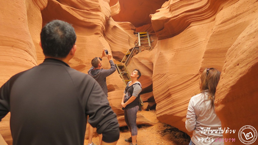 climbling up to exit, Lower Antelope Canyon