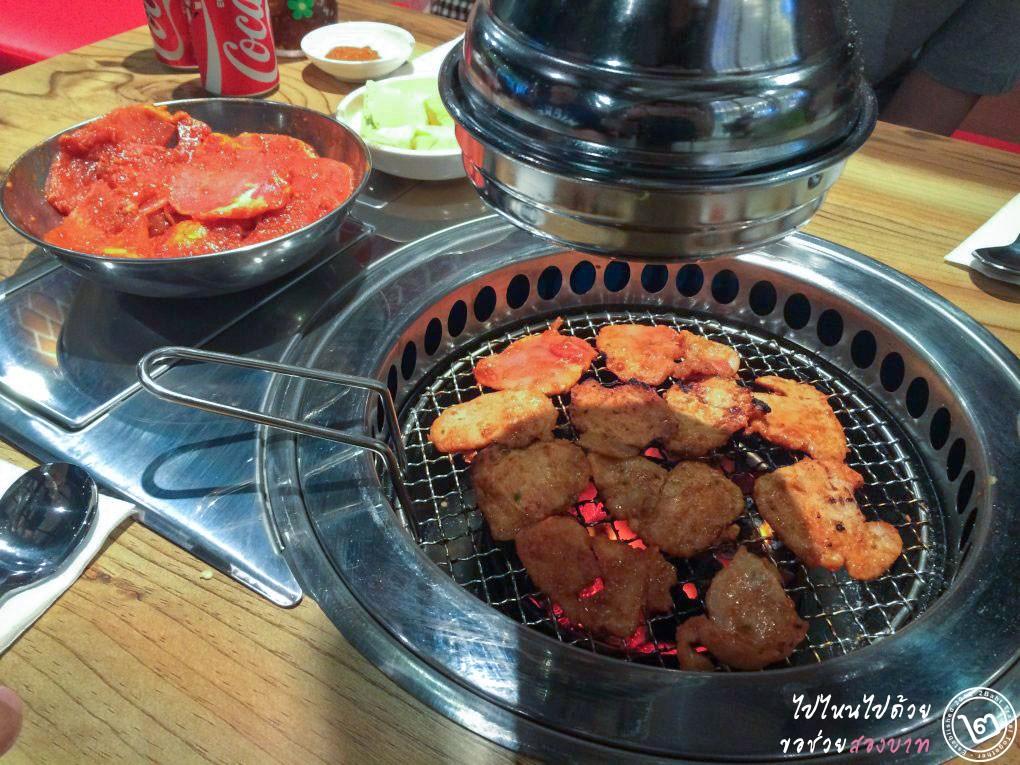 หมูหมักซอสโคซูจัง Nammaejib (นัมเมจิบ) ร้านหมูย่างเกาหลี ป้าญาณี สาขาซีคอนสแควร์