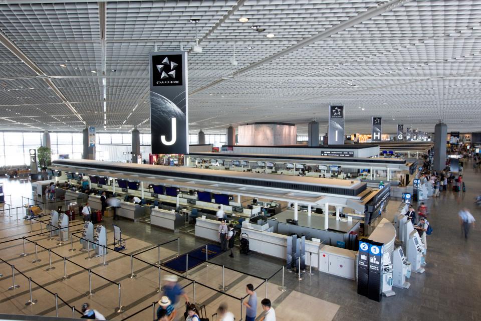 เคาเตอร์เช็คอิน Star Alliance ที่ Narita
