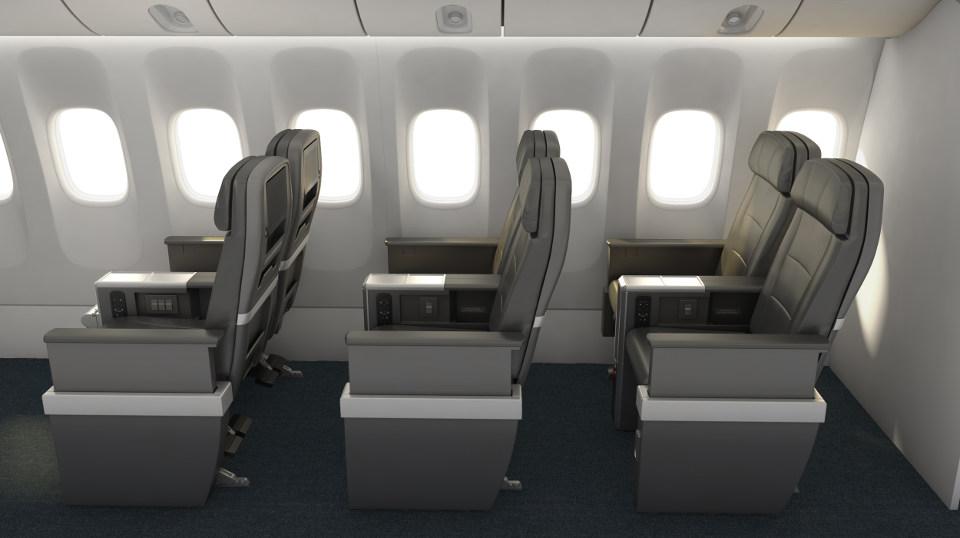 ที่นั่ง American Airlines Premium Economy