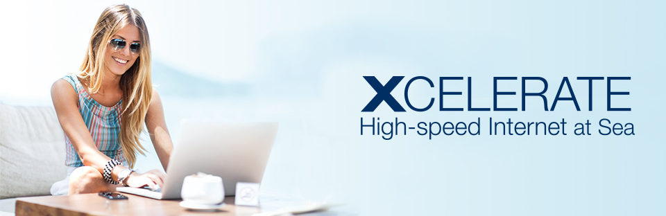 Xcelerate บริการอินเทอร์เน็ตของเรือ Celebrity Cruises