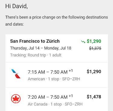 Google Track Prices