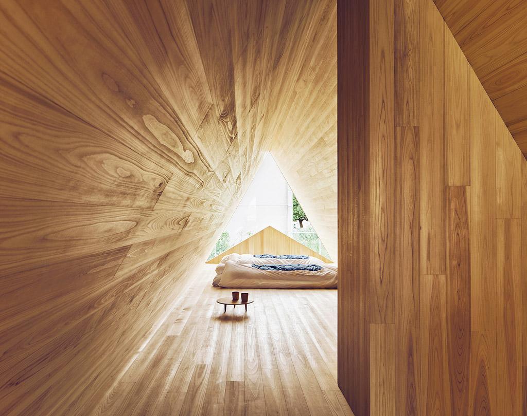 ห้องนอน บ้าน Yoshino Sedar House ผลงาน Go Hasegawa