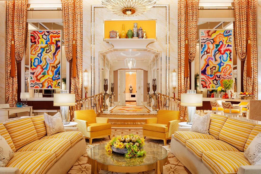 ห้อง Penthouse ถูกตกแต่งแบบลักชัวรี่ในพื้นที่ 362 ตารางเมตร โรงแรม Wynn Palace มาเก๊า