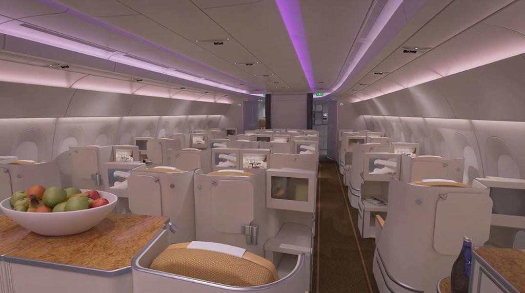 ห้องโดยสาร A350-900XWB