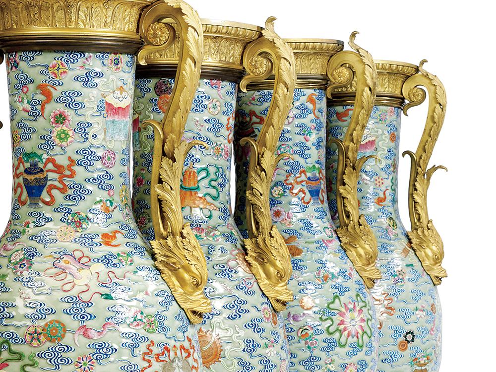 ชุดแจกันลายครามสมัยราชวงศ์ชิง ภาพจาก wynnmagazine.com