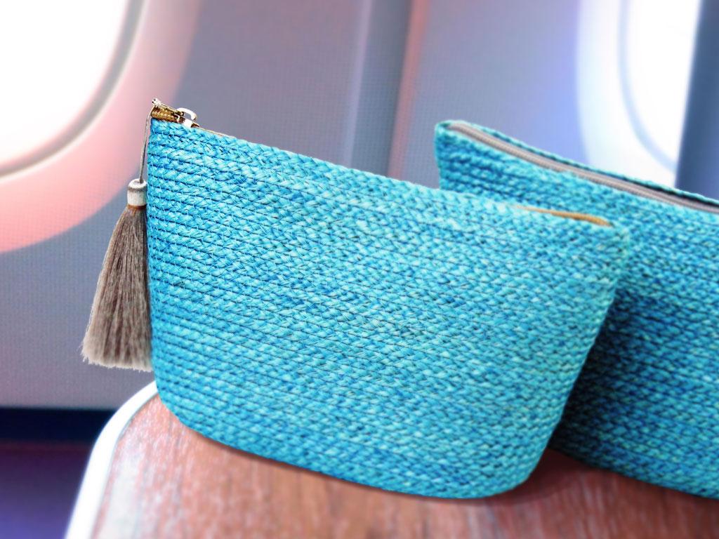 Amenity Kit กระเป๋าที่ทำจากป่านศรนารายณ์ของการบินไทย ในวันแม่แห่งชาติ 2559