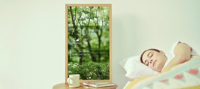 หน้าต่างดิจิทัล เลือกภาพและแสดงข้อมูลพยากรณ์อากาศ IoT โรงแรม & And Hostel