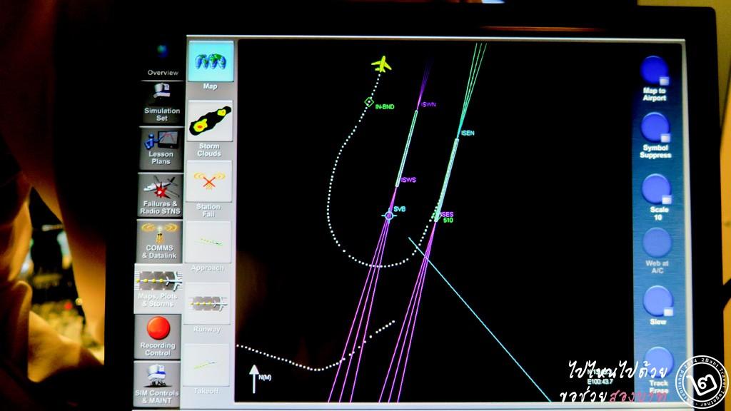 หน้าจอ Monitor การบินของครูฝึกอาวุโส เพื่อใช้ประเมินผลนักบิน