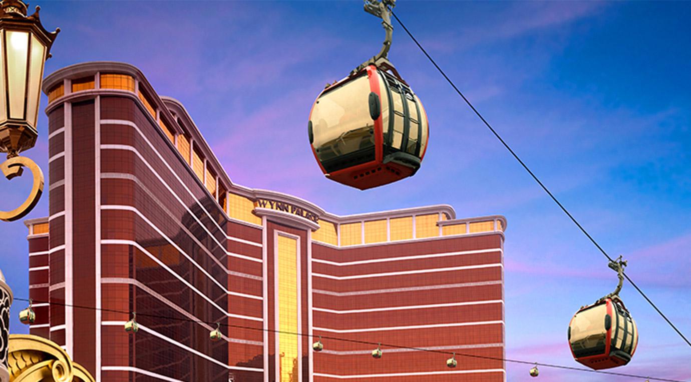 กระเช้า SkyCab รับ-ส่ง ผู้เข้าพักโรงแรม Wynn Palace มาเก๊า
