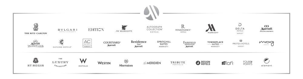 แบรนด์โรงแรมทั้งหมดในเครือ Marriott หลังควบรวม Starwood