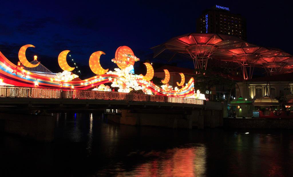 เทศกาลโคมไฟ Clarke Quay สิงคโปร์