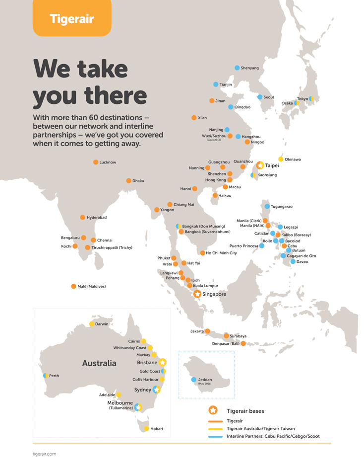 tigerair-routemap