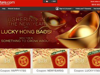 Hotels.com แจกอั่งเปา Coupon Code ลด 8-12% ฉลองตรุษจีน