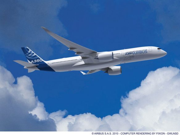 A350-900 XWB (ภาพทางการจาก Airbus)