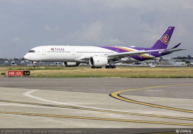 A350-900 XWB ของการบินไทย (ภาพทางการจาก Airbus)