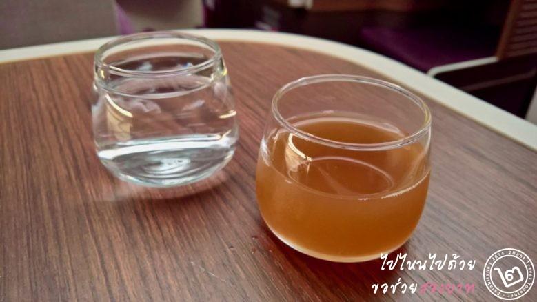 เครื่องดื่มต้อนรับ น้ำเปล่าและชามะขาม