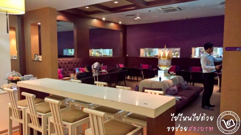ภายในและการตกแต่งของ Royal Silk Lounge ท่าอากาศยานเชียงใหม่