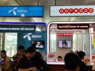 Telenor Ooredoo at Yangon Airport